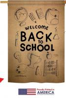 Welcome Back To School House Flag