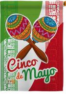Maracas Cinco de Mayo House Flag
