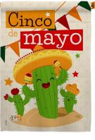 Cactus Fiesta Cinco de Mayo House Flag