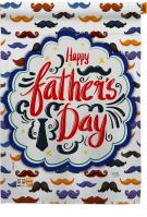 Happy Father\'s Day Mustache House Flag
