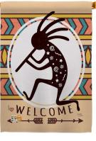Welcome Kokopelli Dance House Flag
