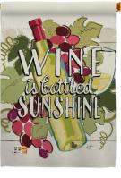 Wine In Sunshine House Flag