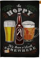 Hoppy Beer O\'Clock House Flag