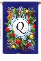 Winter Q Monogram House Flag