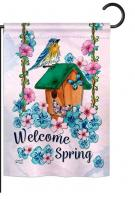 Welcome Spring Bird Garden Flag