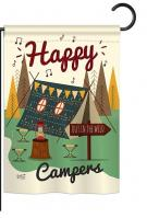 Happy Campers Out in the Wild Garden Flag