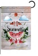 Hi Summer Garden Flag