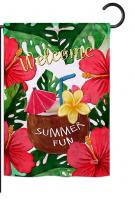 Welcome Summer Fun Garden Flag