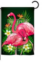 Tropical Flamingo Garden Flag