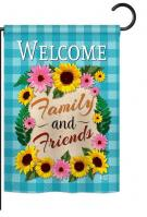 Welcome Family and Friends Garden Flag