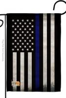 USA Thin Blue Line Decorative Garden Flag