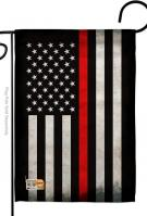 USA Thin Red Line Decorative Garden Flag