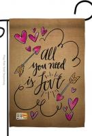 All You Need Is Love Garden Flag