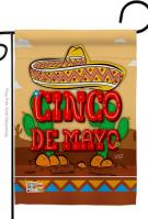 Southwest Cinco de Mayo Garden Flag