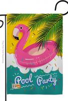 Summer Pool Party Garden Flag