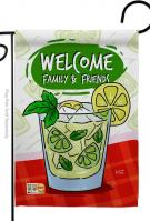 Cool Mojito With Friends Garden Flag