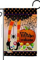 Witches Welcome Garden Flag