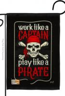 Play Like A Pirate Garden Flag