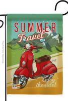 Summer Scooter Travel Garden Flag