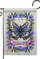 Floral Butterfly Garden Flag