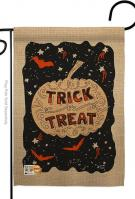 Eerie Trick Or Treat Garden Flag