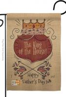 The King Of House Garden Flag