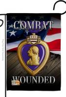 Purple Heart Combat Wounded Garden Flag