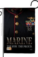 Dress Blue Marine Garden Flag