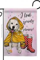 Love Spring Shower Garden Flag