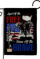 Home Of The Brave Decorative Garden Flag