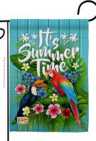 Tropical Summer Garden Flag