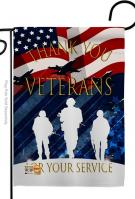 Thank You Veterans Decorative Garden Flag