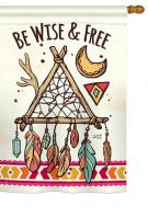 Be Wise & Free House Flag