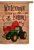 Welcome to Our Farm House Flag