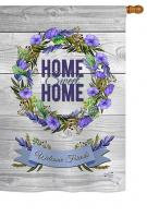 Blooming Home Sweet Home House Flag