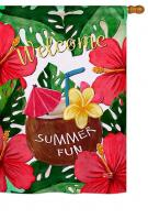 Welcome Summer Fun House Flag
