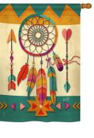 Tribal Dreamcatcher House Flag