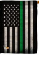 USA Thin Green Line Decorative House Flag