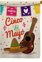 Fiesta Cinco de Mayo Decorative House Flag