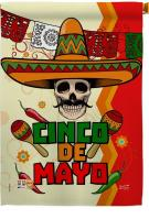 Calavera Cinco de Mayo House Flag