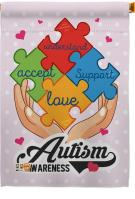 Autism Awareness Support House Flag