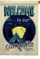 Welcome Campsite House Flag