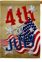 4th Of July Decorative House Flag