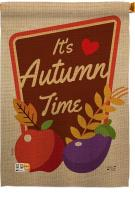 It\'s Autumn Time House Flag