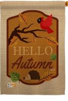 Hello Autumn House Flag