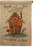Sugar & Spice Christmas House Flag