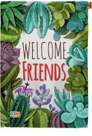 Welcome Friends Decorative House Flag