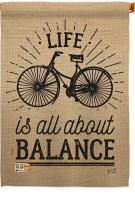 Life Is All About Balance House Flag