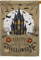 Halloween Castle House Flag
