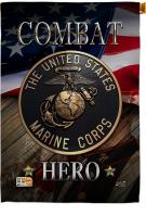 Marine Combat Hero House Flag
